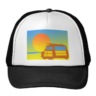 Woodie at Sunset Mesh Hats