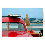Woodie at the beach greeting card