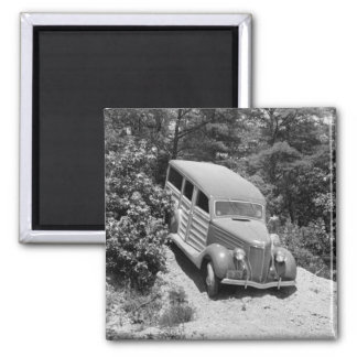 Woodie in the Woods, 1930s 2 Inch Square Magnet