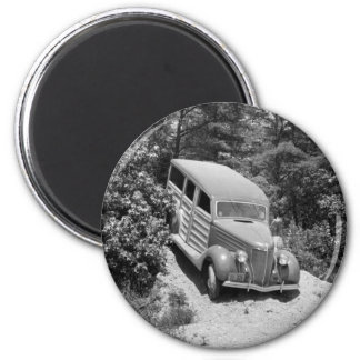 Woodie in the Woods, 1930s 2 Inch Round Magnet