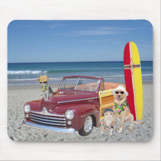 Woodie on the Beach Mouse Pad