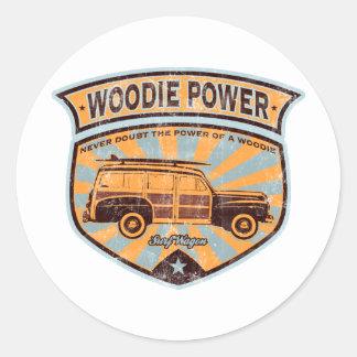 Woodie Wagon Classic Round Sticker