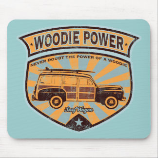 Woodie Wagon Mouse Pad