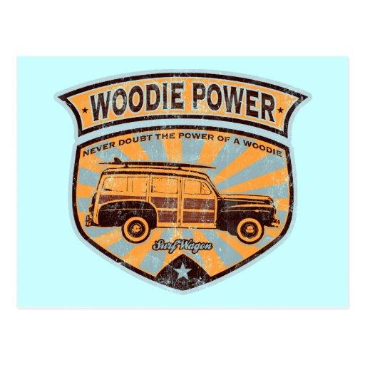 Woodie Wagon Post Card