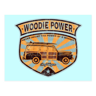 Woodie Wagon Postcard