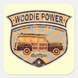 Woodie Wagon Square Sticker