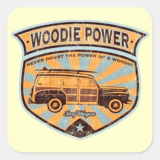 Woodie Wagon Sticker