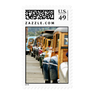 Woodies Lined up to go Home Postage