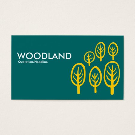 Woodland Amber on Teal Business Cards