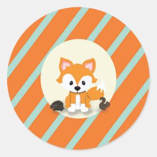 Woodland And Fox Baby Shower Invitation Sticker