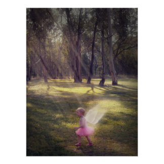 """Woodland Angel"" Poster"