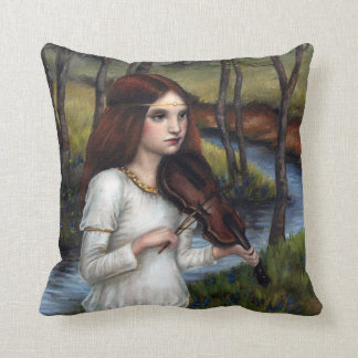 Woodland Angel Throw Pillow