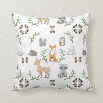 Woodland Animal acorn Pattern pillow