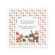 Woodland Animal Baby Shower / Birthday Party Paper Napkin