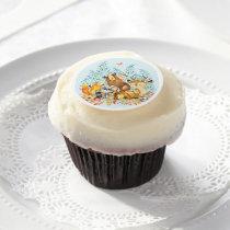 Woodland Animal Baby Shower Cupcake Frosting Round