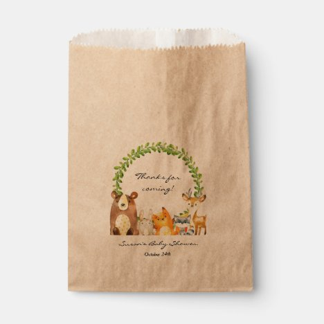 Woodland Animal Baby Shower Treat Favor Bag