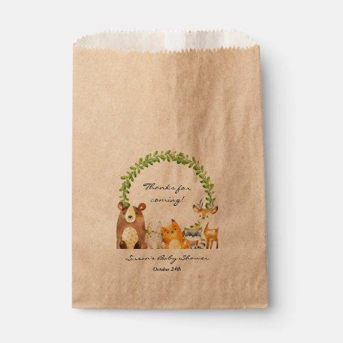 Woodland Animal Baby Shower Treat Favor Bag