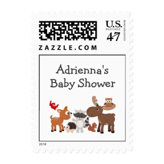 Woodland Animal baby shower / your wording Postage
