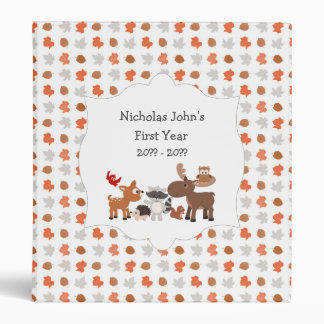 Woodland Animal baby's first year scrapbook album Binder
