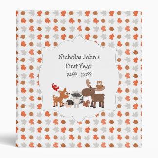 Woodland Animal baby's first year scrapbook album Binder