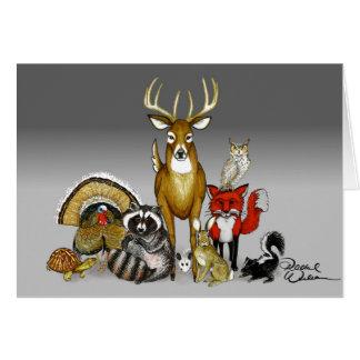 Woodland animal blank card