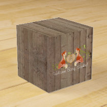 Woodland Animal Creatures, Fox n Vines Newborn Favor Box