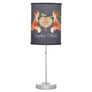 Woodland Animal Creatures Fox n Vines Newborn Table Lamp