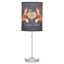 Woodland Animal Creatures, Fox n Vines Newborn Table Lamp