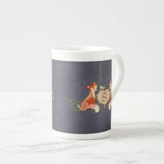 Woodland Animal Creatures, Fox n Vines Newborn Tea Cup
