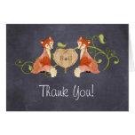 Woodland Animal Creatures, Fox n Vines Weddings Cards