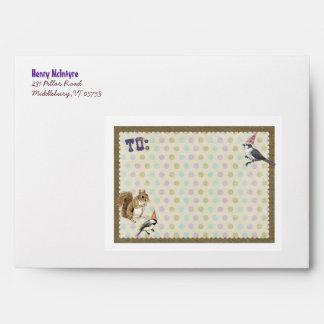 Woodland Animal Envelope for Invitation