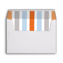 Woodland Animal Fox baby shower lined envelope