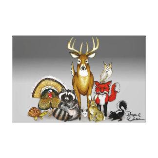 Woodland animal group wall art