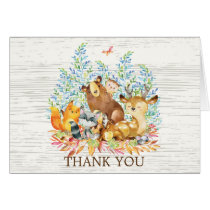 Woodland Animal Neutral Baby Shower Thank You Note