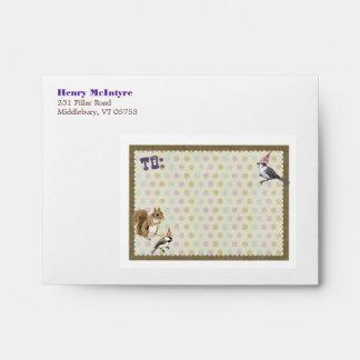 Woodland Animal Personalized Envelope