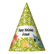 Woodland Animal Personalized Party Hats
