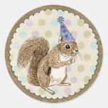 Woodland Animal Squirrel Sticker