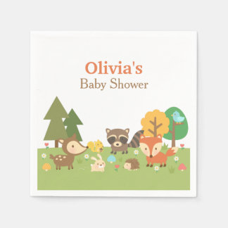 Woodland Animal Themed Baby Shower Party Supplies Paper Napkin