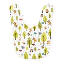 Woodland Animals Baby Bib