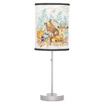 Woodland Animals Baby Girl | Boy Nursery Lamp