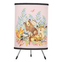 Woodland Animals Baby Girl Nursery Lamp
