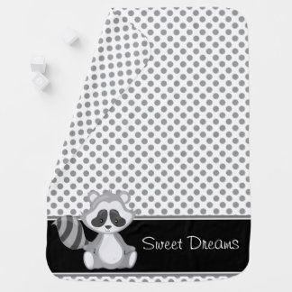 Woodland Animals | Baby Raccoon | Personalized Receiving Blanket