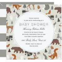 Forest baby shower invitations announcements zazzle woodland animals baby shower filmwisefo Images