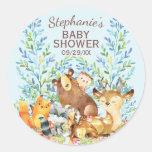 Woodland Animals Baby Shower Favor Sticker