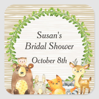 Woodland Animals Baby Shower Favor Tag