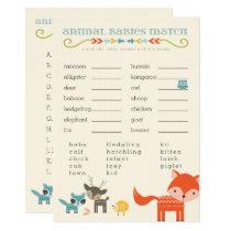 Woodland Animals Baby Shower Games - owl, fox Invitation