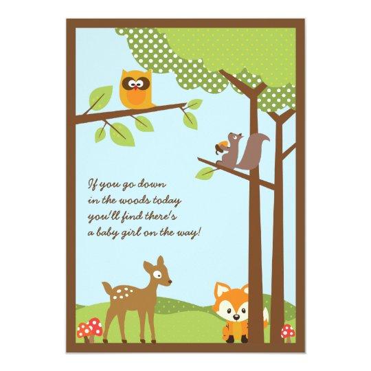 Woodland Animals Baby Shower Invitation Zazzle