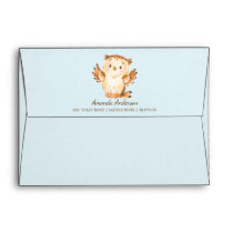 Woodland Animals Baby Shower Invitation Envelope