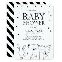 Woodland Animals Baby shower invite Forest Fox
