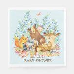 Woodland Animals Baby Shower Paper Napkins